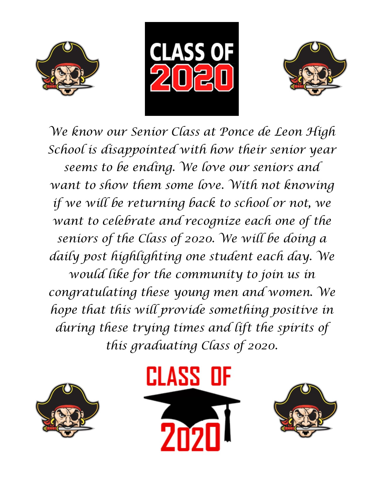 Senior Class Announcement